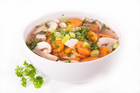 mushroom soup: bowl of soup