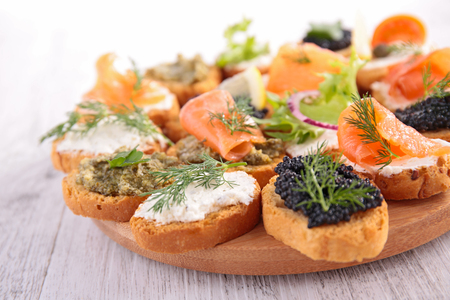 assorted canape