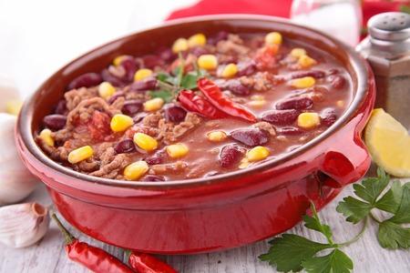 epicure: chili con carne Stock Photo