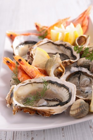 clam: oyster, shrimp and clam
