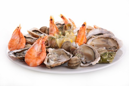 seafood platter: seafood platter isolated on white