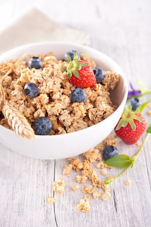 muesli: muesli and berry Stock Photo