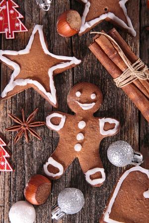 christmas food: christmas gingerbread cookie