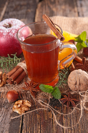 afternoon break: christmas tea Stock Photo