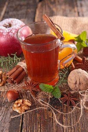 afternoon break: christmas tea Stock Photo