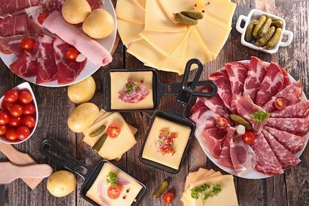 Kaas raclette party Stockfoto - 47183167