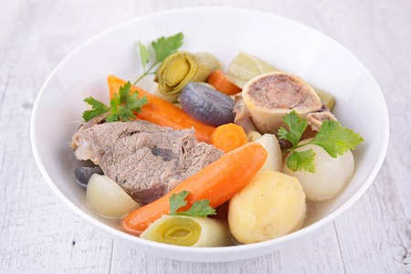 zanahoria: carne y vegetales