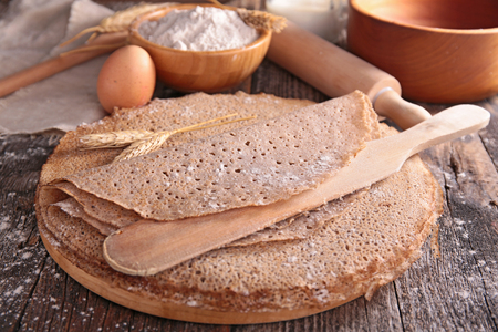 crepe: buckwheat crepe Stock Photo