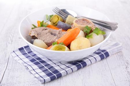 boeuf et légumes