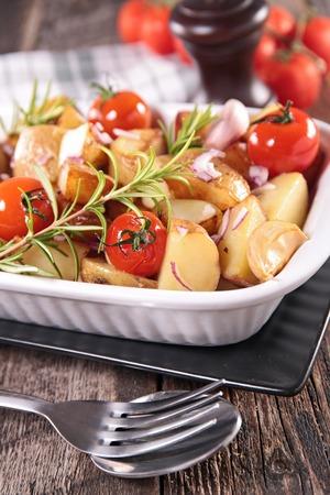 baked: baked vegetable Stock Photo