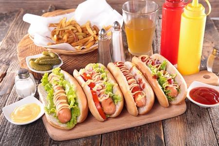 comida rápida: fast food, hot dog Foto de archivo