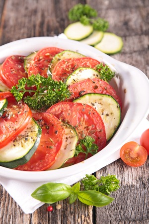 courgette: baked tomato and courgette
