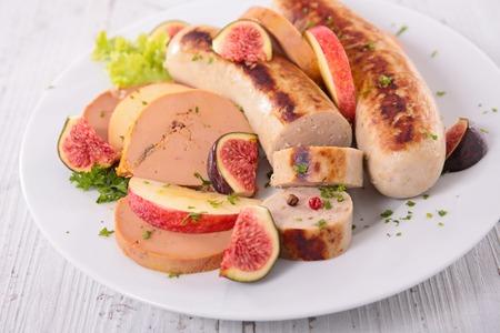 white sausage: foie gras,apple and white sausage