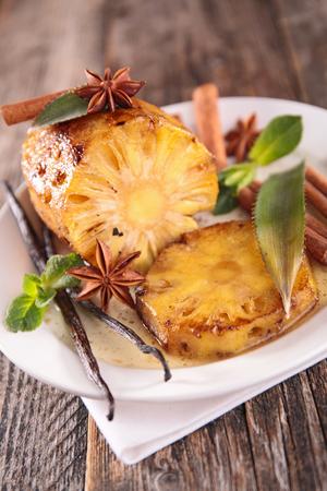baked: baked pineapple