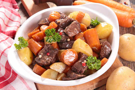 beef stew: beef stew with carrot and potato Stock Photo