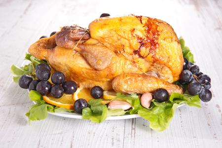 guinea fowl: baked guinea fowl