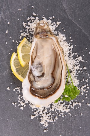 entrees: fresh oyster Stock Photo