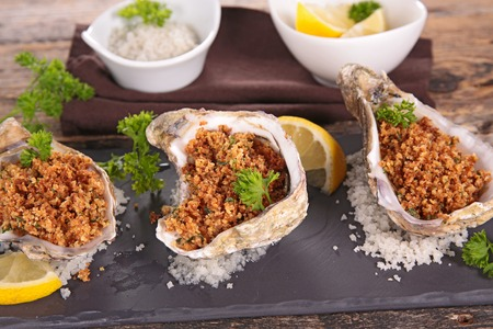 entrees: baked oyster