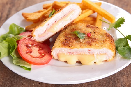 cordon bleu and french fries