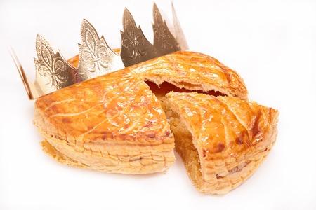 galette des rois or epiphany cake Stockfoto