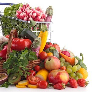 raw vegetables: fruit and vegetable