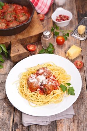 Parmesan: spaghetti, meatball and parmesan