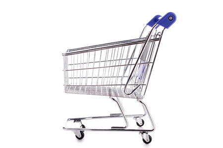 shopping carriage: trolley cart Stock Photo