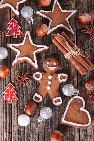 galletas de navidad: cookie de pan de jengibre  Foto de archivo