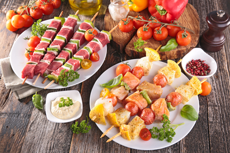 kebob: meat and fish barbecue