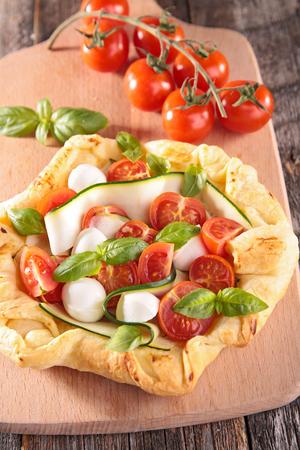 courgette: tomato and courgette quiche