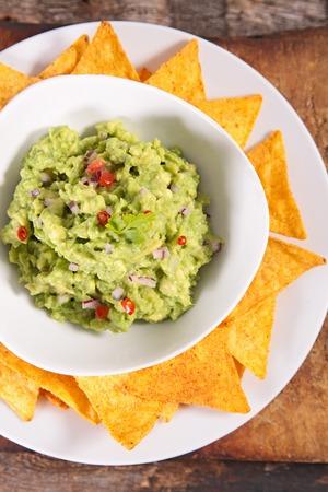 guacamole: guacamole and tortilla chip