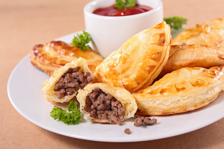 filled: fried meat pies, empanadas Stock Photo