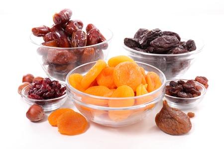 collection de fruits secs