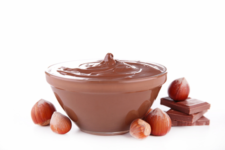 nutella: nutella, chocolate spread Stock Photo
