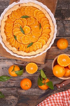 clementine: clementine pie Stock Photo