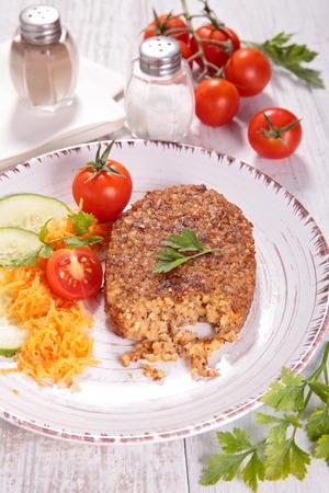 vegetarian hamburger: vegetarian burger Stock Photo