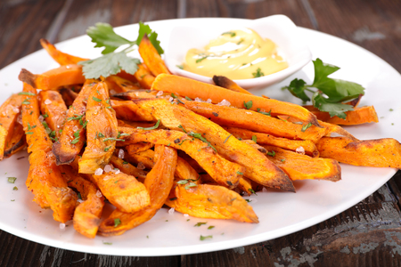 fast meal: french fries sweet potato