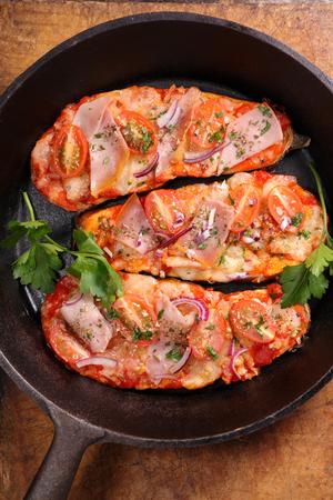 bruschetta: bruschetta, baked eggplant
