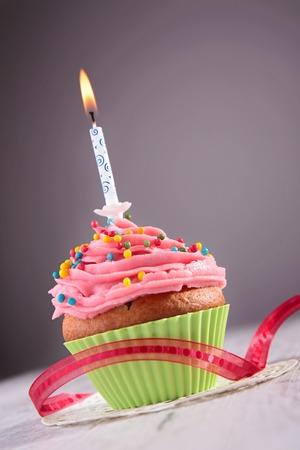 petit gâteau d'anniversaire Banque d'images