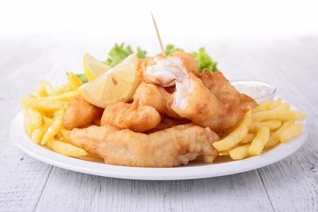 Fish and chips  Foto de archivo