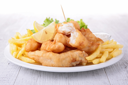 fish chips: Fish and chips