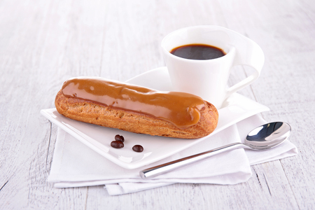 pastry: french pastry and coffee cup