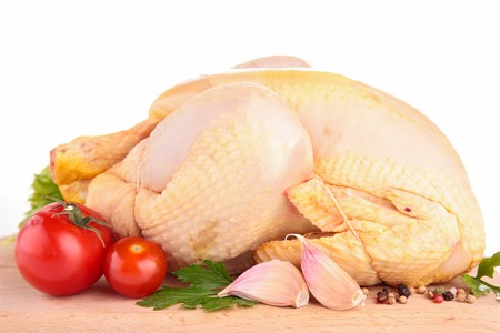 raw chicken: raw chicken on board Stock Photo