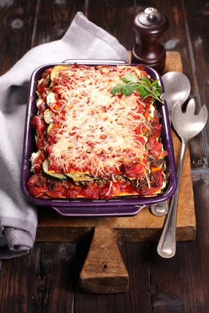 courgette: beef and courgette lasagna
