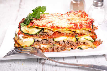 lasagna: beef and courgette lasagna