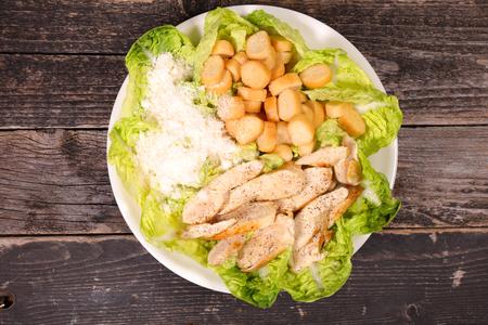 caesar salad: chicken caesar salad Stock Photo