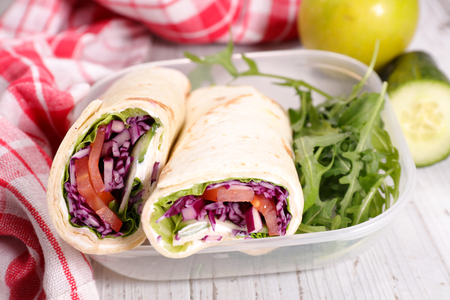 lunchtime: tortilla wraps Stock Photo