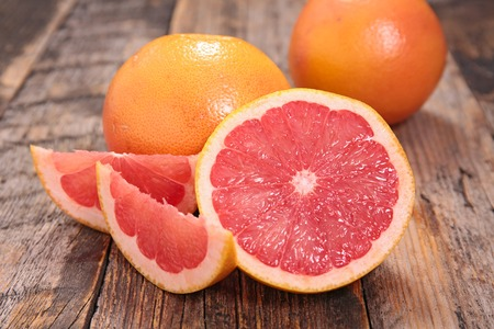 red: red grapefruit Stock Photo