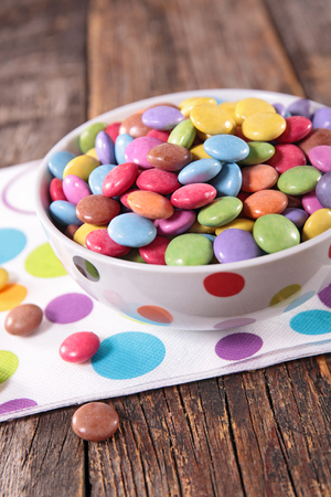smarties: colored smarties Stock Photo
