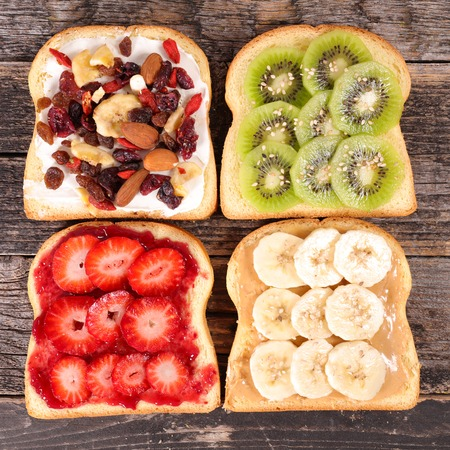 toast bread: breakfast toast Stock Photo